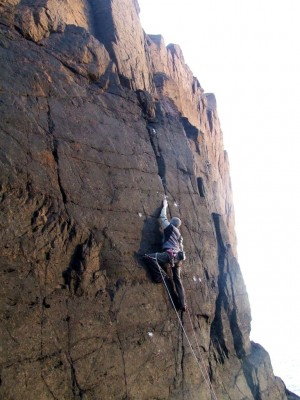 "Al on First Ascent of ""Ponder"" (E4)"
