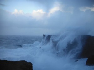 Stormy seas in December