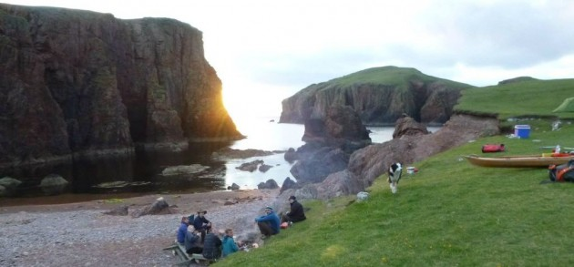 Camping at The Hams, Muckle Roe