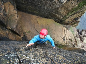 "Mike soloing ""Goudie's Search"" on Bressay"